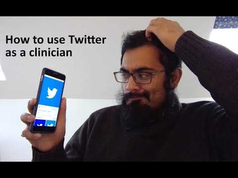 How to sign up to twitter as a doctor