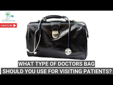 What type of doctors bag should you use for visiting patients