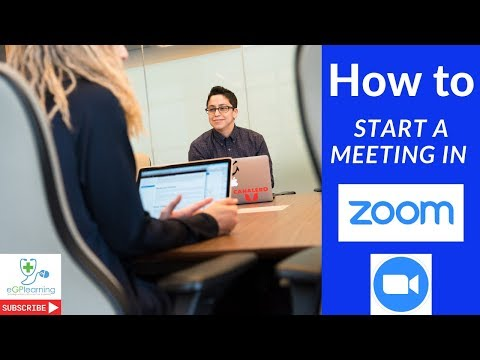 How to start a meeting in Zoom 2019