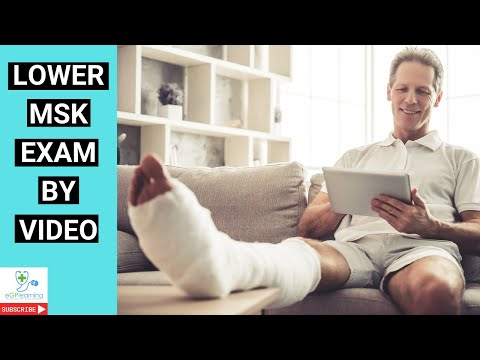 Lower MSK exam by video consultation