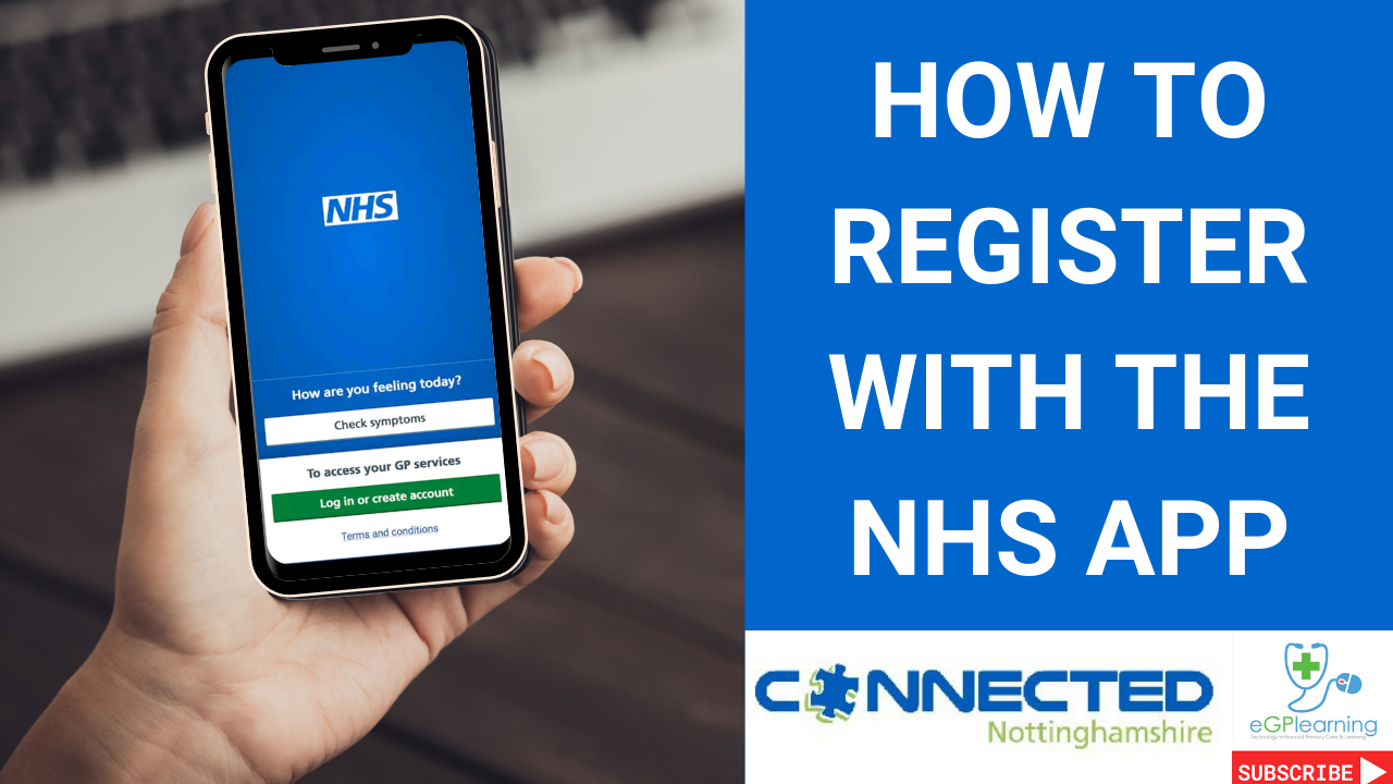 A walkthrough guide on how to register with the NHS app.