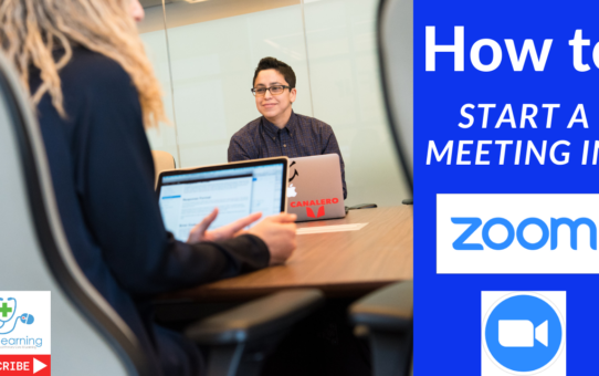 How to start a meeting in Zoom (2019) for an amazing web meeting