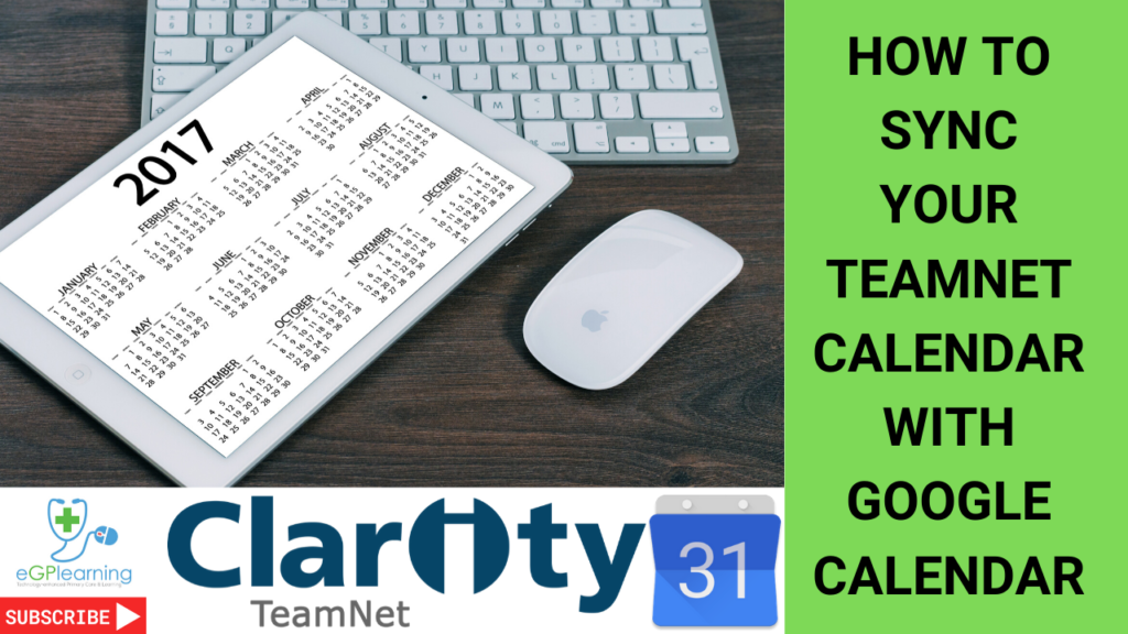 How to sync your Clarity TeamNet calendar with Google Calendar - a walk through guide