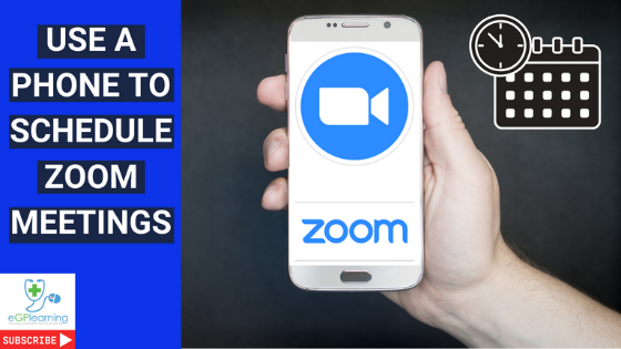 Schedule a meeting with zoom on your mobile, use a phone to schedule zoom meetings